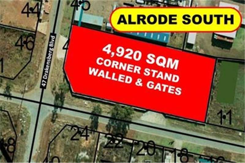 Property Vacant land 4,920 SQM CORNER WALLED & 2X GATES (@ R 670/SQM)