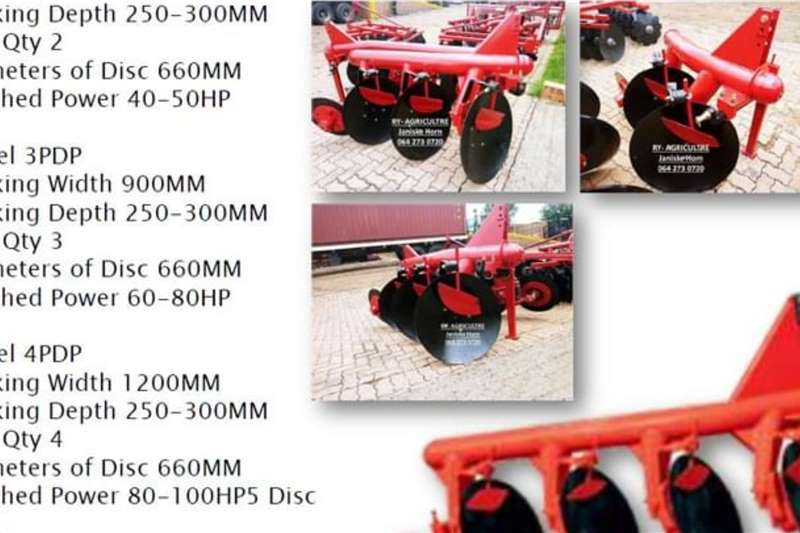 2020 RY Agri  New Disk Plough from 2 - 5 disk