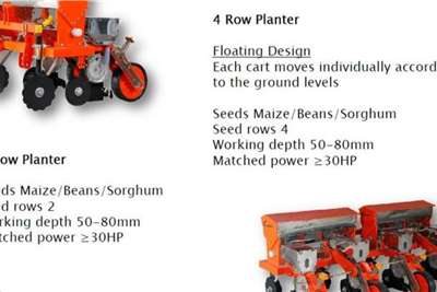 RY Agri Row planters New 4 Row Maize,Bean,Sunflower Ect. Planter Planting and seeding equipment