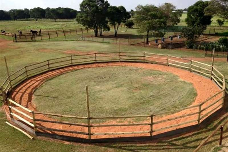 Security fencing  Lunging rings Security and fencing