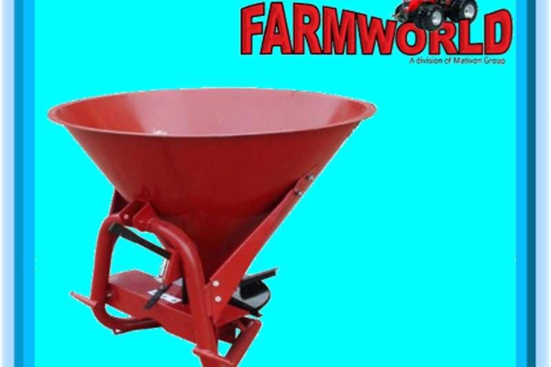 Seeds fertilisers and chemicals S2837 Red RY Agri 600L 480kg Fertilizer Spreader N