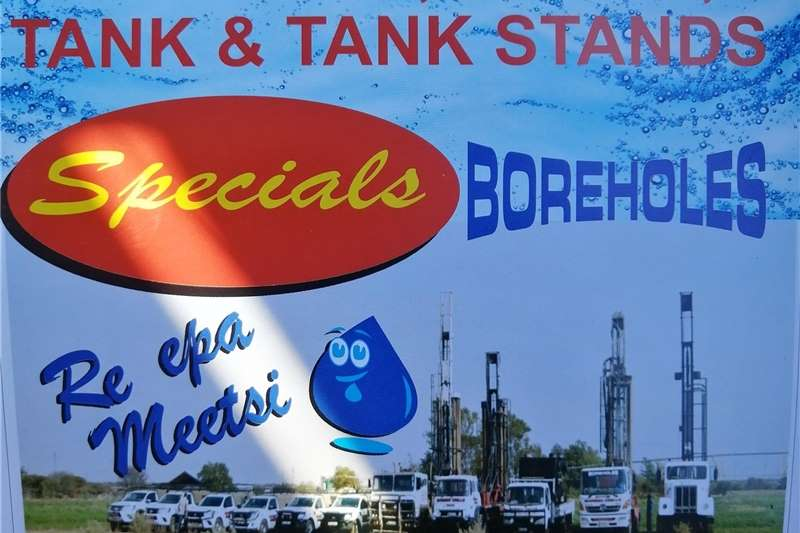 Borehole drilling Drilling and cleaning of boreholes, pumps, tanks a Service providers