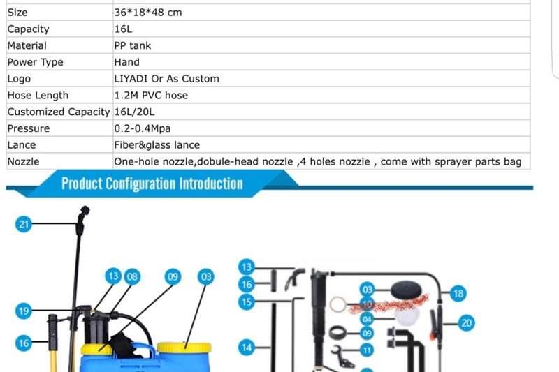 Hand operated sprayers 16L Knapsack Sprayer Spraying equipment