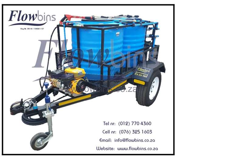 High clearance sprayers NEW 600 to 2500Lt 186 Bar Mobile Pressure Washer T Spraying equipment