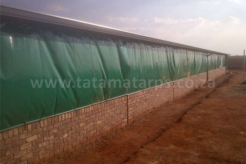 Structures and dams Livestock housing  Poultry House Curtains