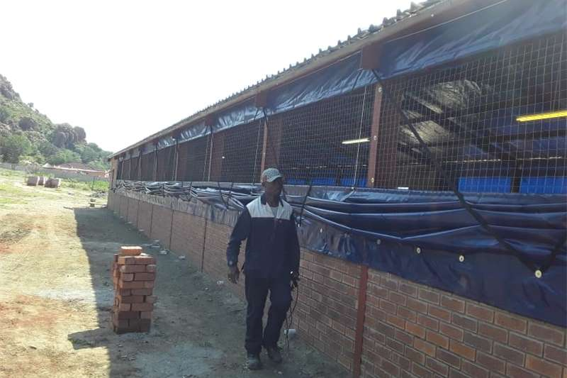 Livestock housing  Poultry house curtains price per house size. Structures and dams