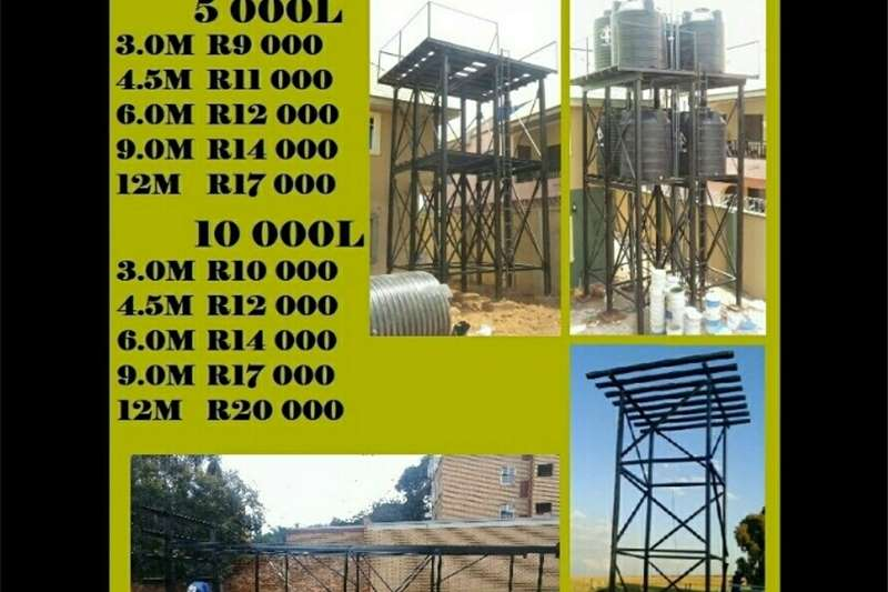 Water tank stands Steel tank stands Structures and dams