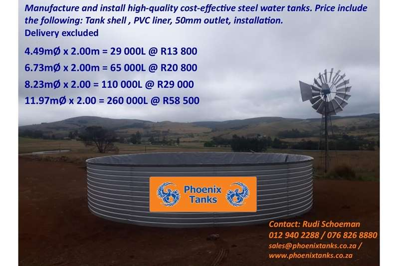 Structures and dams Water tank stands Zincalume Steel Water Tanks (Reservoirs/damms)