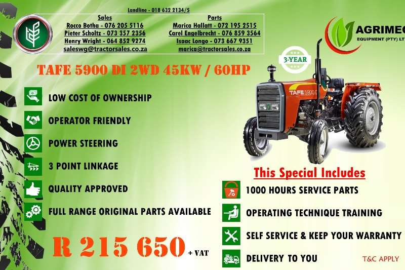 TAFE Compact tractors TAFE 5900 DI 2WD Tractors