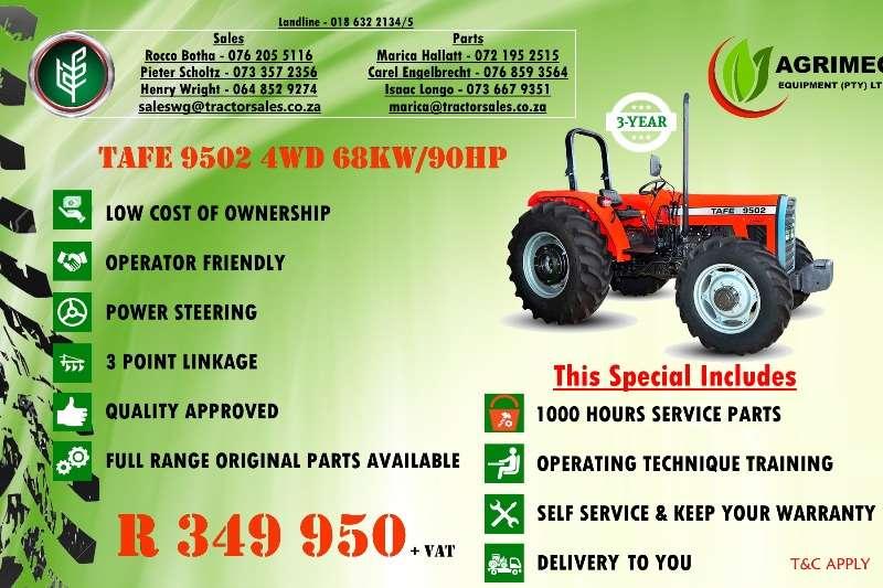 TAFE Tractors Four wheel drive tractors TAFE 9502 4WD 2019