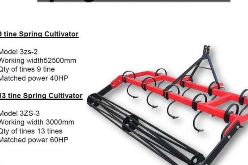 Cultivators New 9 Tine Spring Cultivator with Roller 2.5m Tillage equipment