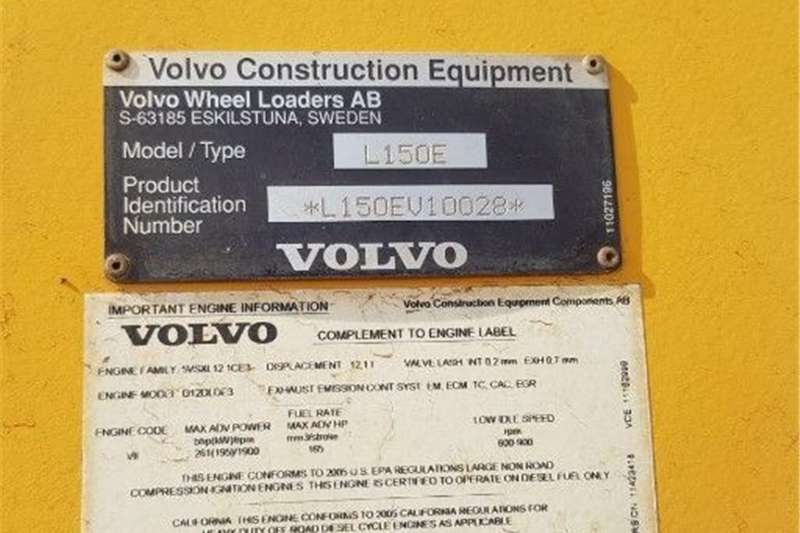 4WD tractors VOLVO L150E   LOADER Tractors