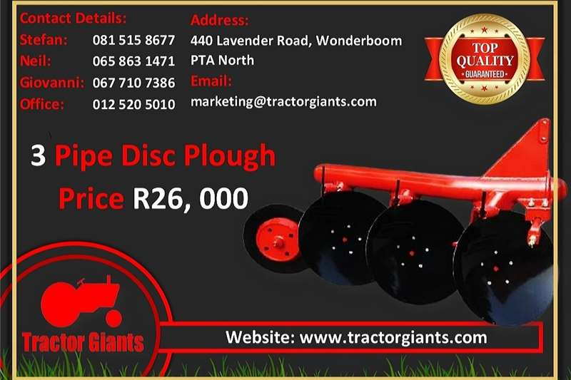 Other tractors 3 DISC PIPE PLOUGH Tractors