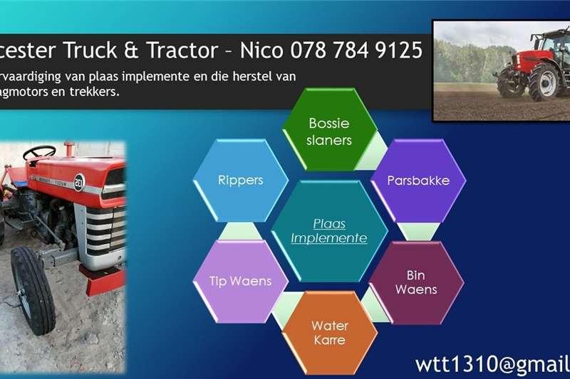 Other tractors Rebuilding farm implements Tractors