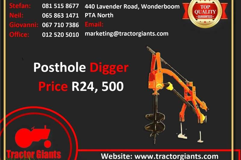 Utility tractors POSTHOLE DIGGER FOR SALE Tractors