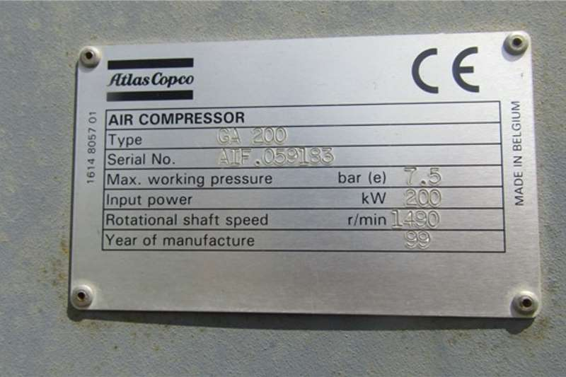 Atlas Copco Compressors Atlas Copco GA200 Enclosed Compressor
