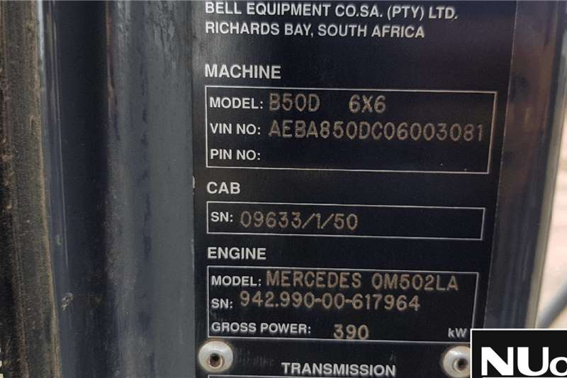 Bell BELL B50D 6X6 ADT ADTs