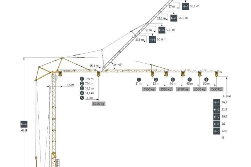 2008 Potain  GTMR386B SELF ERECTING TOWER CRANE