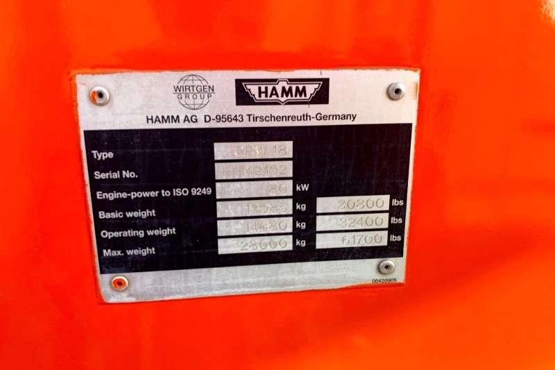 Hamm Rollers Vibratory roller GRW18 PNEUMATIC 2011