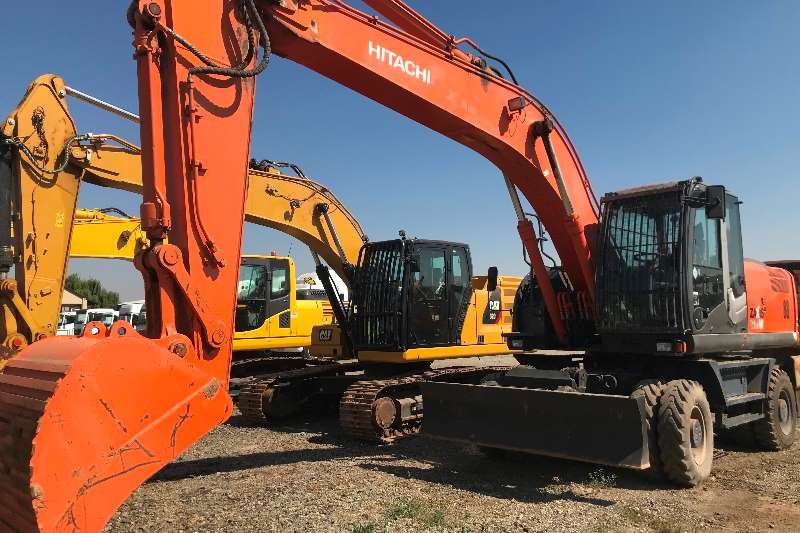 Hitachi Excavators 2014 Hitachi ZX210W 3 wheel excavator 2014
