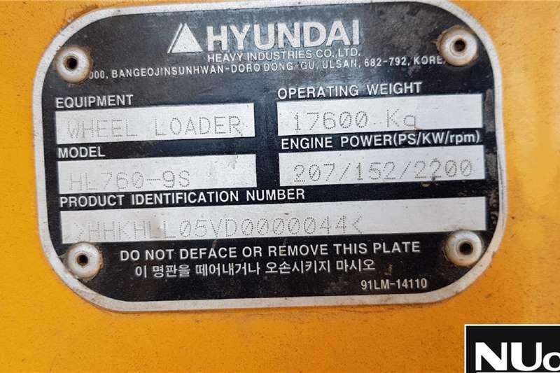 Hyundai HL760 9S FRONT END LOADER Loaders