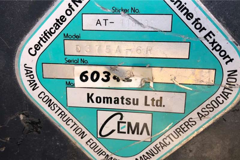 Komatsu D 375 A  6R Dozers