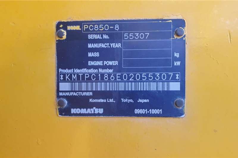 Komatsu PC850 5 Excavators