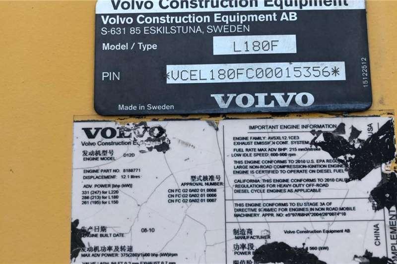 2010 Volvo  L180F