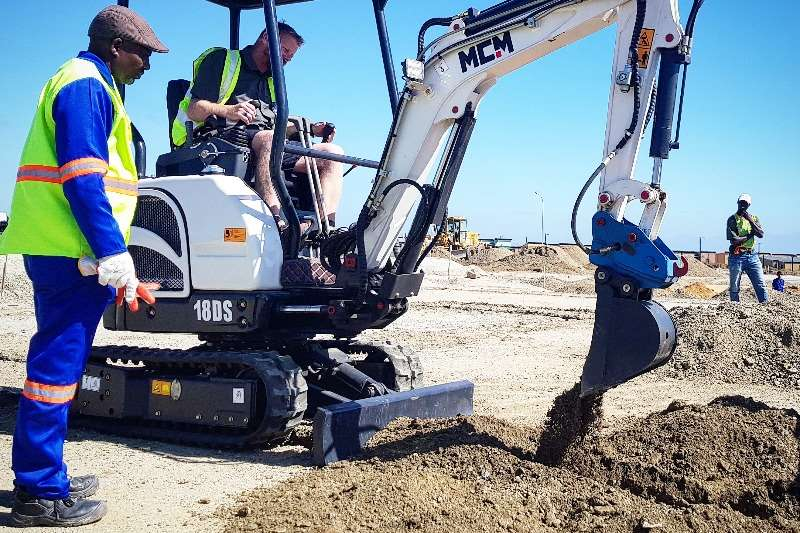 MCM Mini excavators Construction 1.8 Ton Perkins Excavator 2019