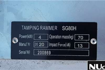 SG80H TAMPING RAMMER WITH HONDA ENGINE 10X AVAIL Rammer