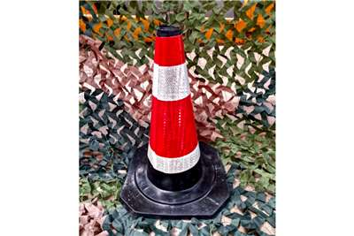 Sino Plant Traffic Cone Rubber 500mm Black Base Others