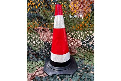 Sino Plant Traffic Cone Rubber 650mm Black Base Others