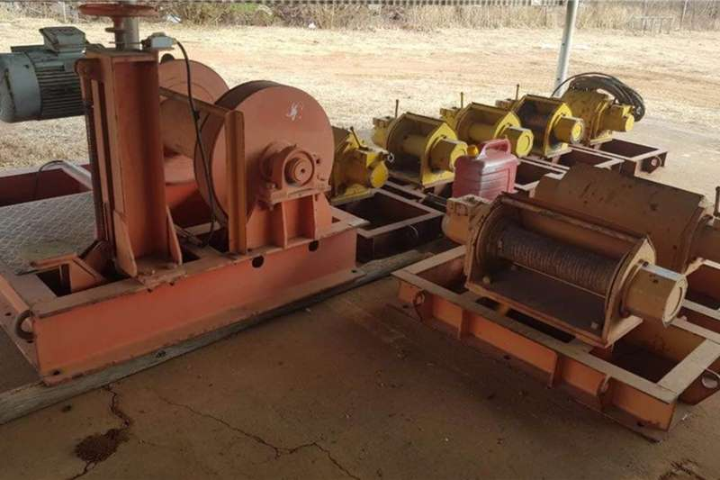 Pneumatic Air Winches Telescopic loaders