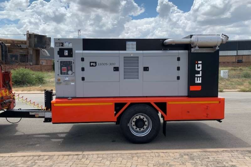 Vertex Drill rigs Diesel Compressors mounted onto Trailers