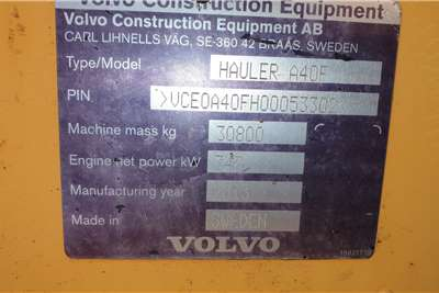 Volvo A40F ADTs