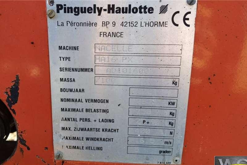 PINGUELY  HAULOTTE HA16PX BOOM LIFT Aerial platform