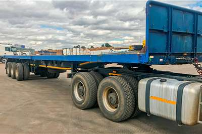 Afrit Flat deck Flat Deck Tri axle 14m Trailer with container lock Trailers