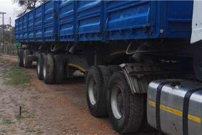 Afrit Side tipper 6x12m super link drop side 1.2m sides Trailers