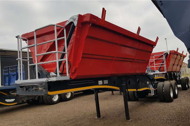 Afrit Trailers Side tipper Afrit 25cube Refurbished, New Domex Bins 2014