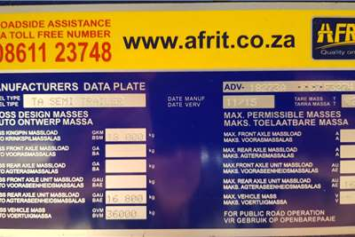 Afrit Superlink 6/12 Flatdeck. Full House. Lightweight Trailers