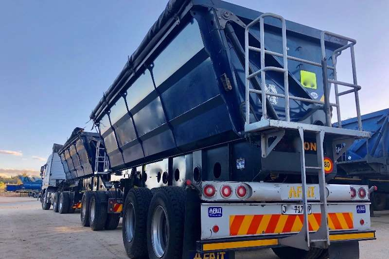 Afrit Trailers Tri-Axle Afrit 45 Cube Side TIpper Interlink 2017