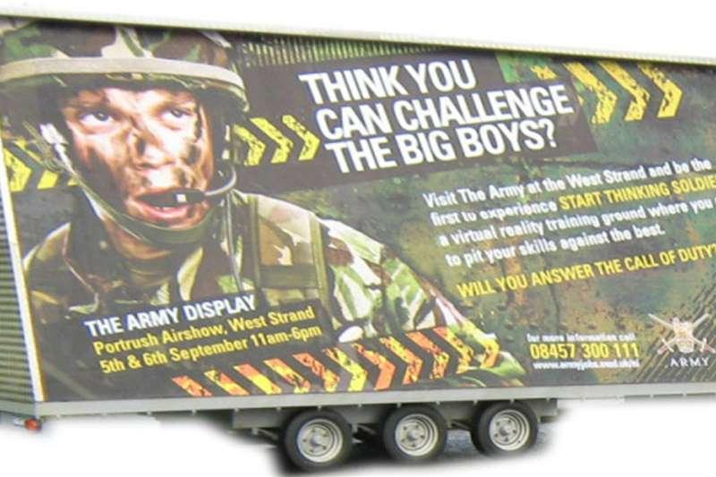 Custom Advertise trailer Advertise trailer