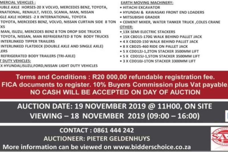 Custom General purpose trailer VARIOUS TRAILERS ON AUCTION 19 NOVEMBER 2019 2019