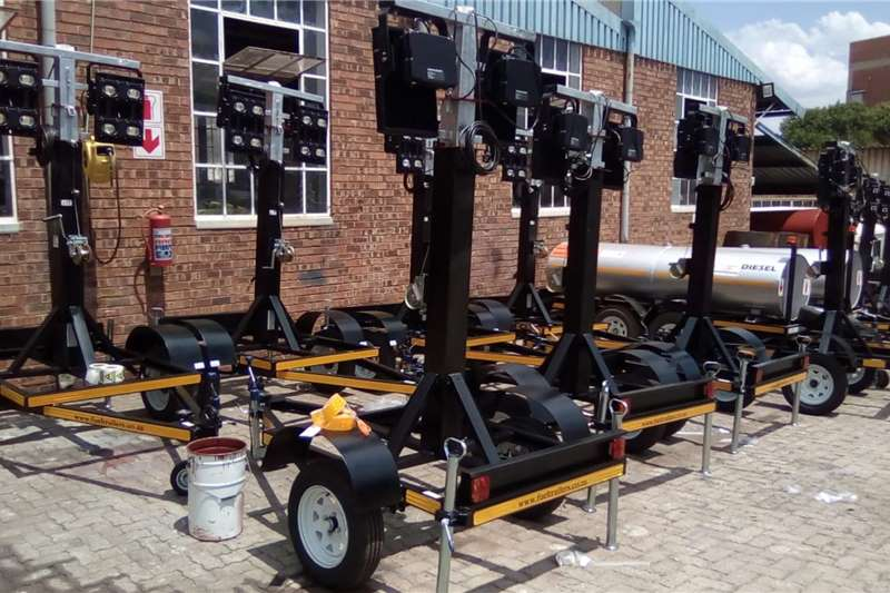 Custom Light tower trailers Light Tower Plant for Mining & Construction Trailers
