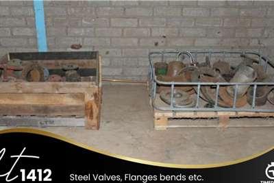Steel Valves, Flanges Bends, etc Farming spares
