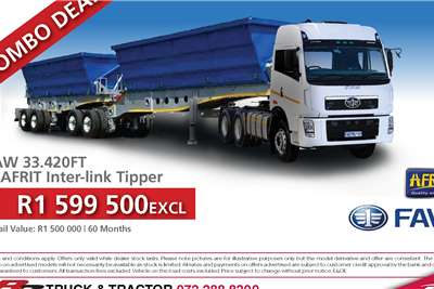 FAW Tipping body FAW 33.420 FT with Afrit Interlink Tipper Truck