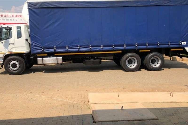 Fuso Curtain side trucks 2017 Fuso FM16 270 Tag axle 6 x 4 9m Curtainside 2017