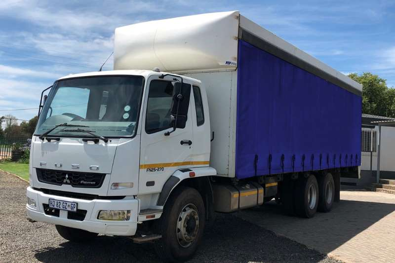 Fuso Curtain side trucks 25 270 fitted with Curtain Side Body 2018