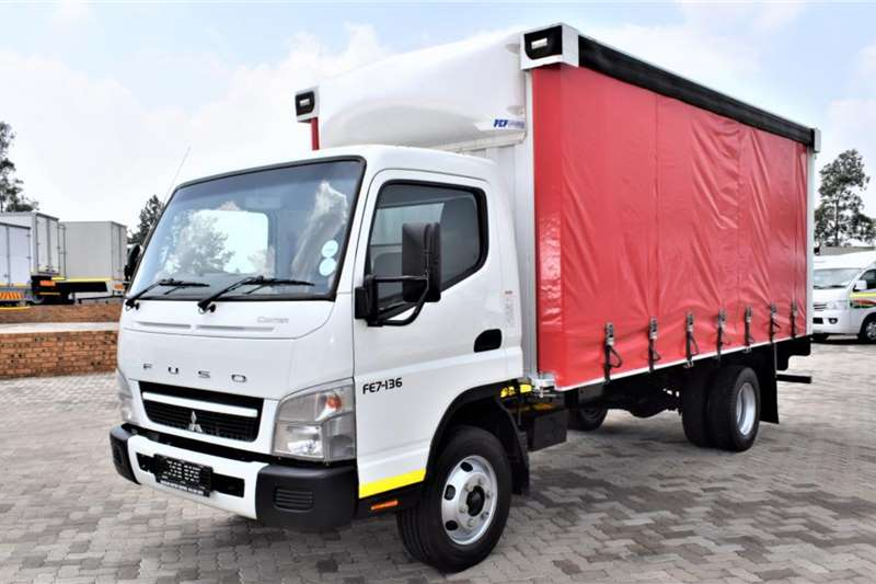 Fuso Canter FE7 136 Curtain Side (4 ton ) Truck
