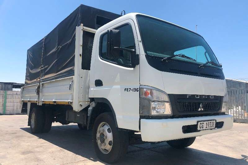 Fuso Truck Dropside FE7 136 dropside with canopy and benches 2017